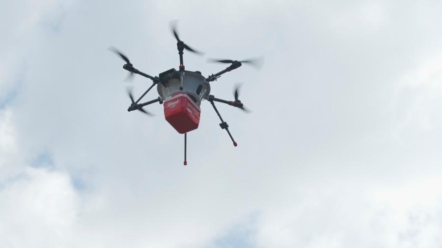 Drone que será usado pelo iFood em delivery de comida voando - Divulgação/iFood