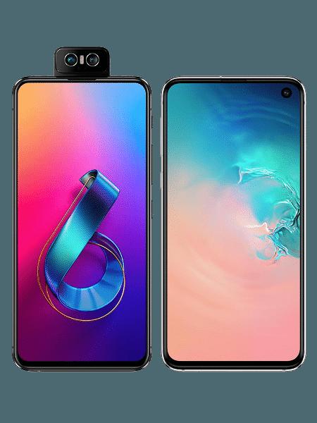 Zenfone 6 e Galaxy S10e: qual o melhor?  - Arte/UOL