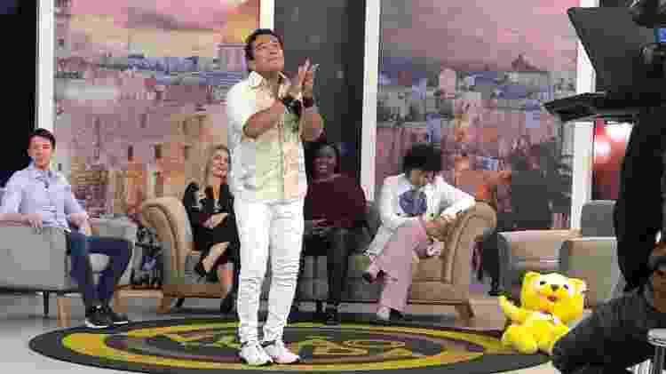 Disseminando os valores do instituto, no programa do pastor-cantor bolsonarista Magno Malta - Paulo Sampaio/UOL - Paulo Sampaio/UOL