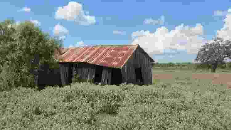 Casa abandonada de meeiros que costumava ser a plantação de Weisiger e onde William Ellis nasceu no Texas - CORTESIA KARL JACOBY - CORTESIA KARL JACOBY