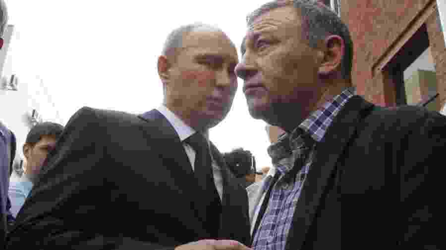 Vladimir Putin e Arkady Rotenberg são amigos desde a infância - Getty Images