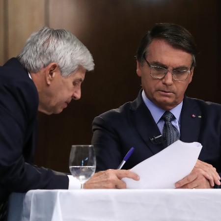 General Augusto Heleno e Jair Bolsonaro durante gravação de discurso para a 75ª Assembleia Geral da ONU - Marcos Corrêa/PR