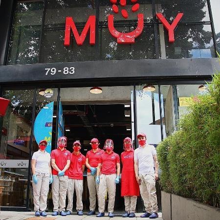 Fachada da rede colombiana de restaurantes Muy - Reprodução/Instagram/@muyrestaurantecol