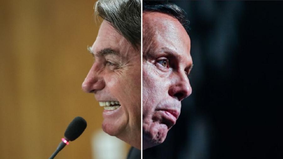 Jair Bolsonaro e João Doria - Marcos Correa/PR; Roberto Casimiro/Agência O Globo