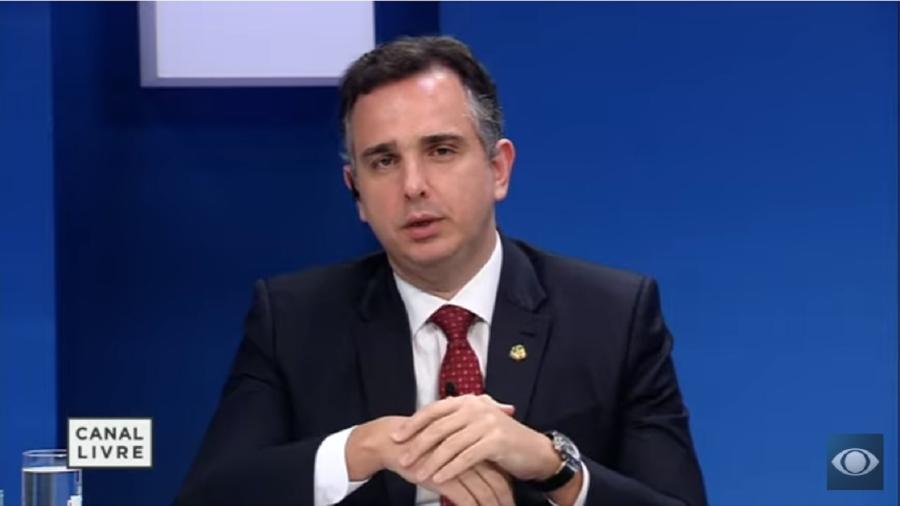Rodrigo Pacheco, presidente do Senado: ele criticou com clareza os posicionamentos adotados pelo presidente - Reprodução/Youtube-Canal Livre