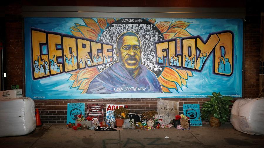 Mural em homenagem a George Floyd  - Octavio Jones/Reuters