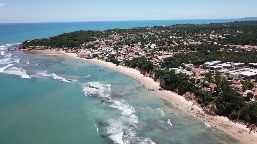 Praia de Pipa fica a cerca de 80 km de Natal e é considerada uma das mais belas do país - Divulgação/Prefeitura de Tibau do Sul (RN)