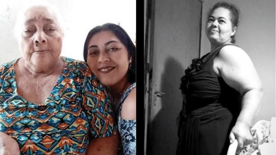 À esquerda, Mariana e uma das filhas, que levava o mesmo nome; à direita, Maria Verônica - Reprodução/Arquivo Pessoal