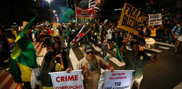 Manifestantes fecham avenida Paulista em protesto contra Lula - Fabio Braga/Folhapress