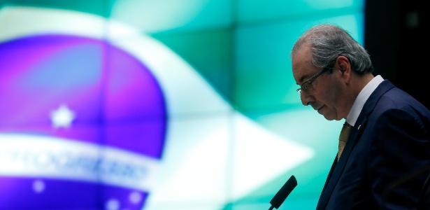 O ex-presidente da Câmara dos Deputados, Eduardo Cunha (PMDB-RJ), enfrenta o plenário da Casa