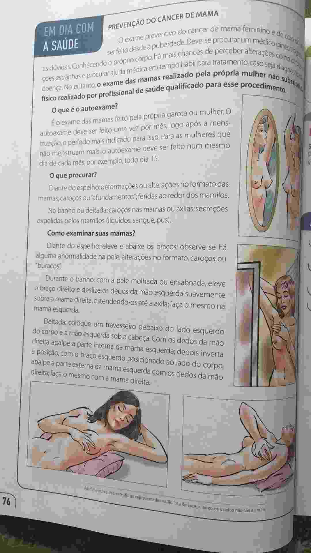 Livro didático gerou revolta de pais en Rondônia por usar ilustrações de órgãos sexuais - Reprodução