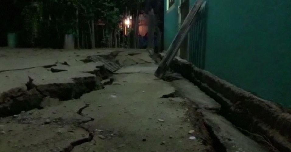8.set.2017- Danos em prédio em Minatitlan, após tremor de 8.2 graus na escala Richter que atingiu o México