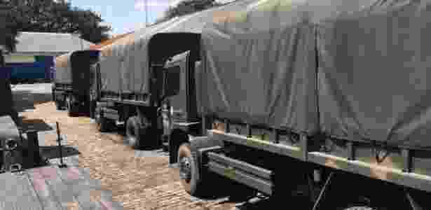 Caminhões levam materiais para exercício Amazonlog 17 - Exército / Divulgação