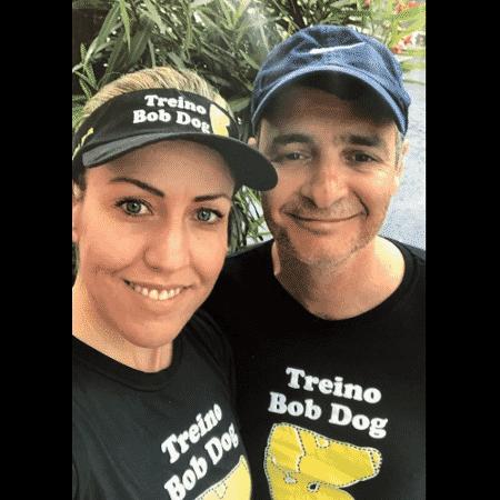 O brasileiro Daniel de Lima e a namorada Junea Bicalcho - Reprodução/Telegram.com