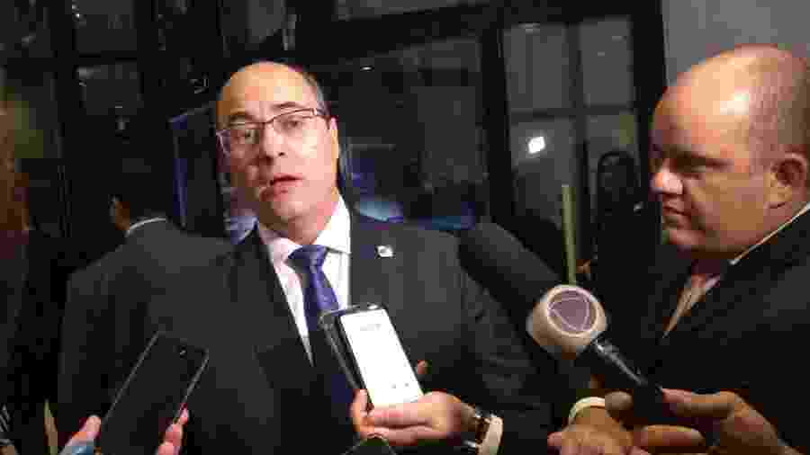 Wilson Witzel, governador do Rio de Janeiro, fala com jornalistas em Salvador - Eduardo Militão/UOL