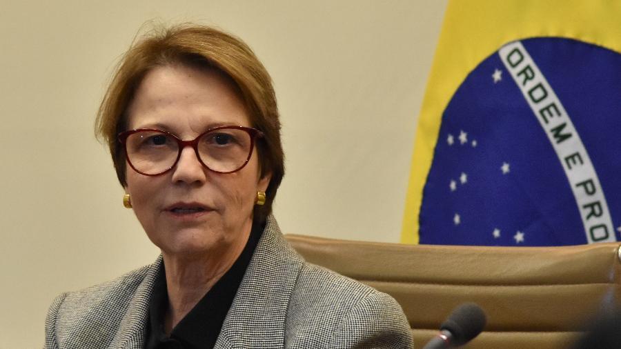 Tereza Cristina, Ministra da Agricultura em evento na Fiesp - Roberto Casimiro/Fotoarena/Estadão Conteúdo