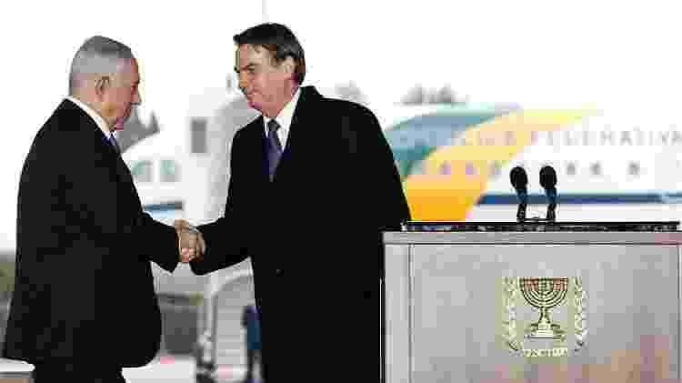 Bolsonaro e Netanyahu em Israel; brasileiro chegou a anunciar mudança de embaixada a Jerusalém, mas recuou - Alan Santos/PR