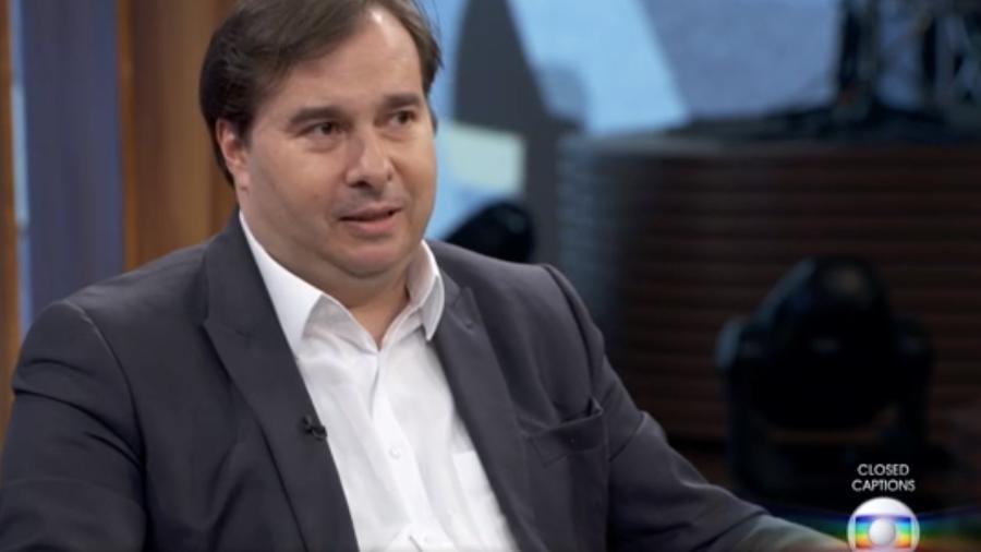 19.set.2019 - O presidente da Câmara Rodrigo Maia (DEM-RJ) no Conversa com Bial - Reprodução/TV Globo