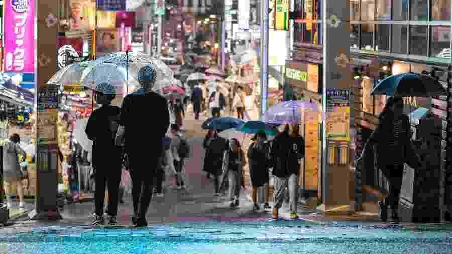 Tóquio se prepara para a chegada de tufão - Odd Andersen/AFP