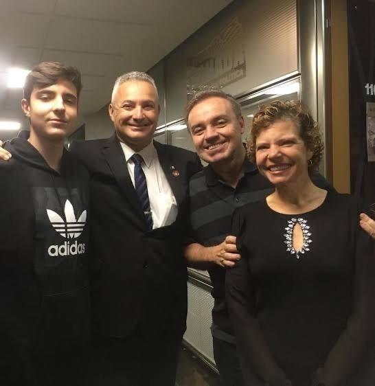 Em julho de 2019, o deputado Coronel Telhada recebeu Gugu, Rose e João Augusto em seu gabinete - Foto: Arquivo Pessoal