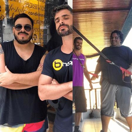 Luis Lobianco e seu personal Bruno Leal - Reprodução/Instagram