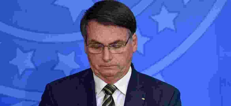 O presidente Jair Bolsonaro, durante solenidade de posse de Andre Luiz de Almeida Mendonca como novo ministro da Justica - MATEUS BONOMI/AGIF/ESTADÃO CONTEÚDO