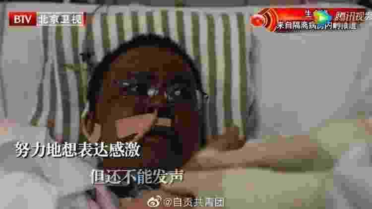 Médico Hu Weifeng após aproximadamente três meses de tratamento contra a covid-19 - BTV - BTV