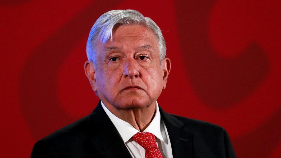 Presidente do México, Andrés Manuel López Obrador, durante entrevista coletiva na Cidade do México -