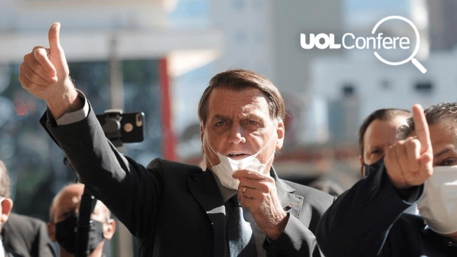 Em visita a Chapecó (SC), o presidente Jair Bolsonaro ignorou medidas restritivas ao elogiar combate à pandemia no município - Tarla Wolski/Colaboração para o UOL