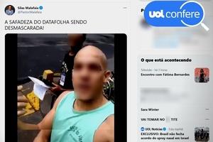 Malafaia usa vídeo antigo e com alegação falsa para criticar Datafolha (Foto: Reprodução/Twitter Silas Malafaia)