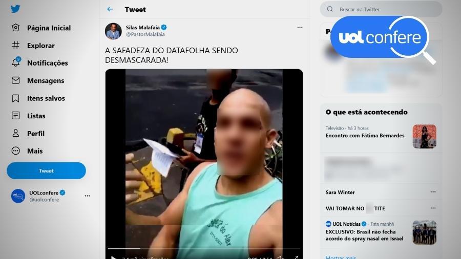14.mai.2021 - O pastor Silas Malafaia compartilha vídeo de 2018 para criticar o Datafolha - Reprodução/Twitter Silas Malafaia