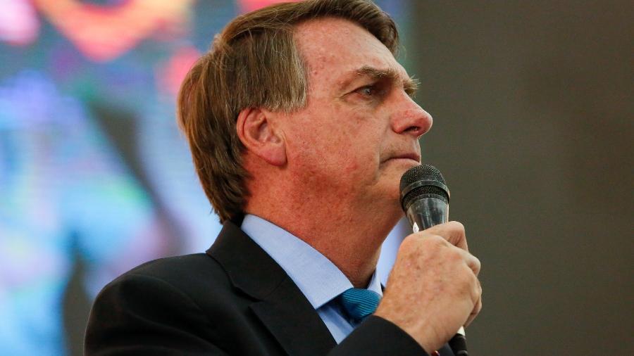 O presidente Jair Bolsonaro em evento em igreja em Brasília - Anderson Riedel/PR
