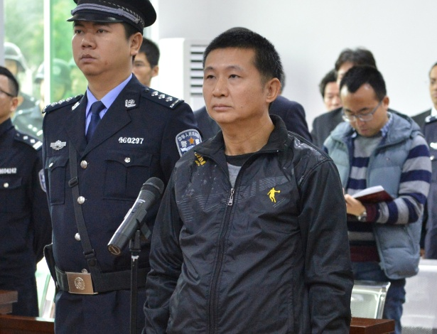 Chen Man ouve sua sentença no tribunal de Haikou, no sul da China