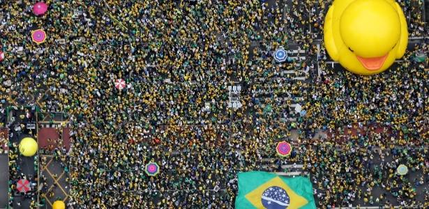 Contagem parcial do Datafolha aponta 450 mil na av. Paulista às 16h - Paulo Whitaker/Reuters