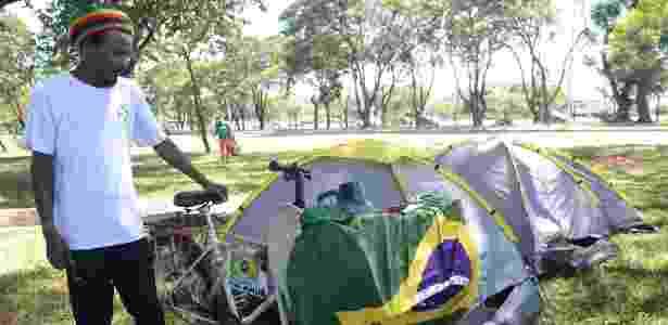 Acampamento no Parque da Cidade - Elza Fiuza/Agência Brasil - Elza Fiuza/Agência Brasil