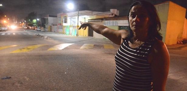 """4.jan.2018 - """"A criminalidade em Natal está demais, é uma vergonha"""", diz a vendedora Maria Concebida que mora no bairro do Alecrim, região central de Natal"""