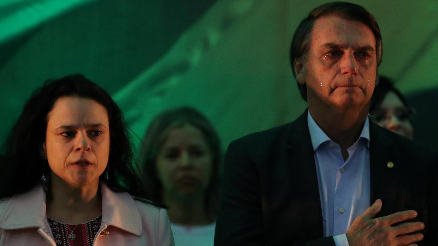 A deputada estadual Janaina Paschoal e o presidente Jair Bolsonaro - Ricardo Moraes - 22.jul.2018/Reuters