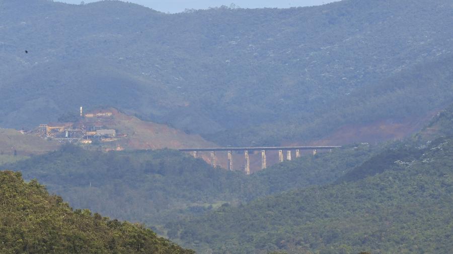 Vista geral do entorno da barragem Sul Superior, da mina do Gongo Soco, em Barão de Cocais - Ramon Bitencourt/O Tempo/Estadão Conteúdo