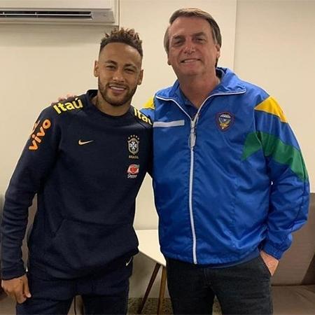 Neymar e Jair Bolsonaro em encontro em Brasília, antes da Copa América 2019 - Reprodução/Instagram/Jair Bolsonaro