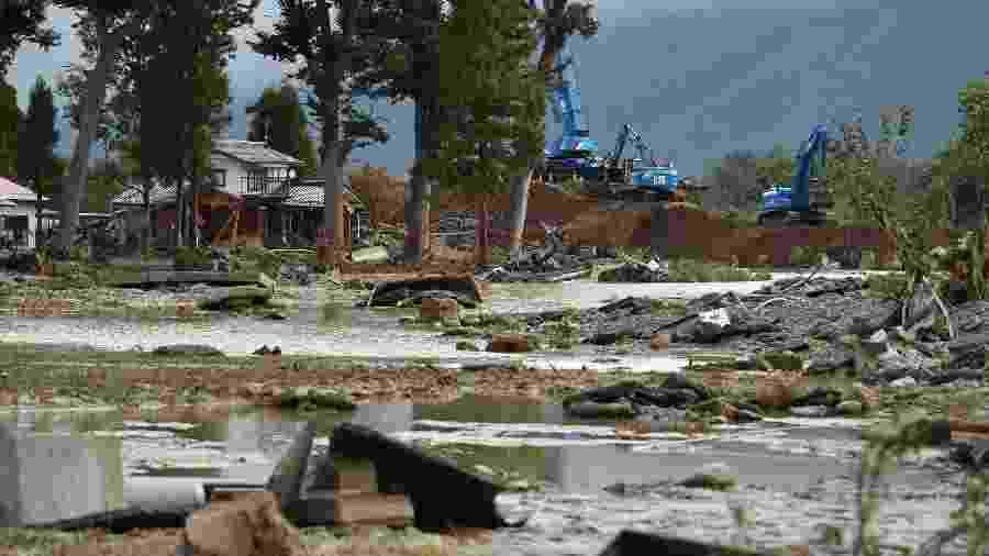 Tufão Hagibis deixa 67 mortos no Japão - Kazuhiro NOGI / AFP