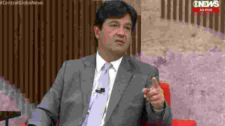 Luiz Henrique Mandetta, ministro da Saúde, em entrevista para a Globo News - Reprodução/Globo News