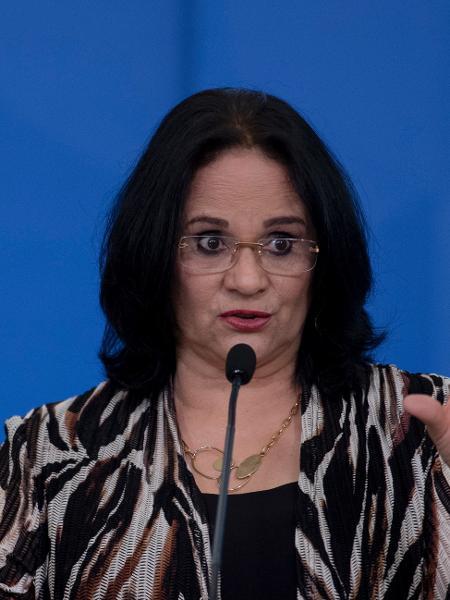 A ministra da Mulher, da Família e dos Direitos Humanos, Damares Alves. - Mateus Bonomi/AGIF/Estadão Conteúdo