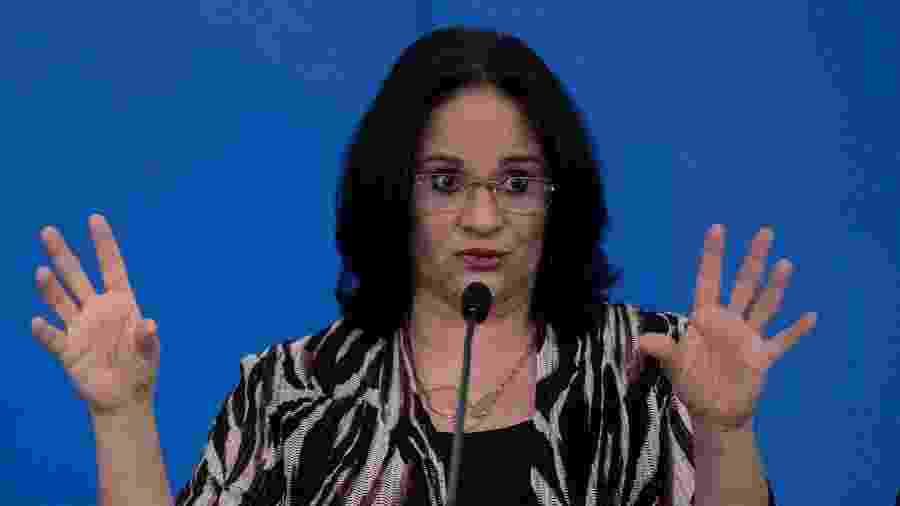 A ministra da Mulher, da Família e dos Direitos Humanos, Damares Alves - Mateus Bonomi/AGIF/Estadão Conteúdo