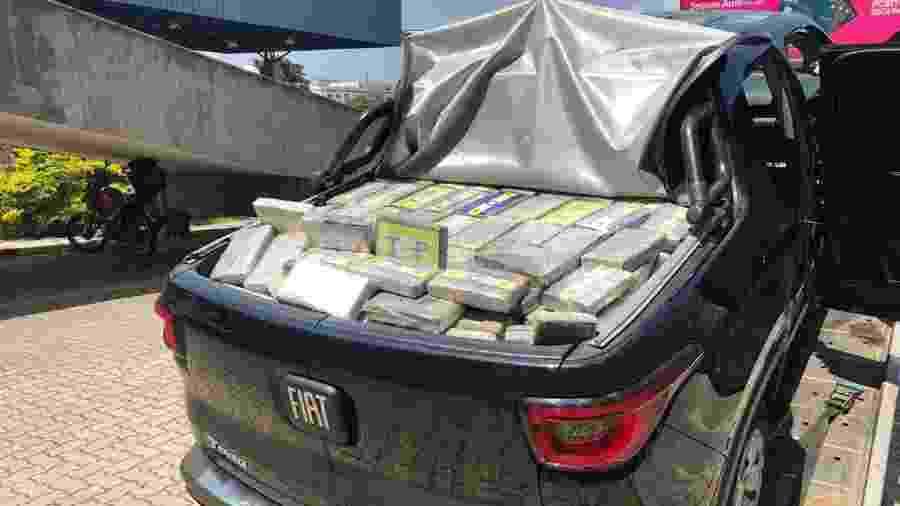646 tabletes de cocaína foram apreendidos após perseguição em SP - Divulgação/PF-SP