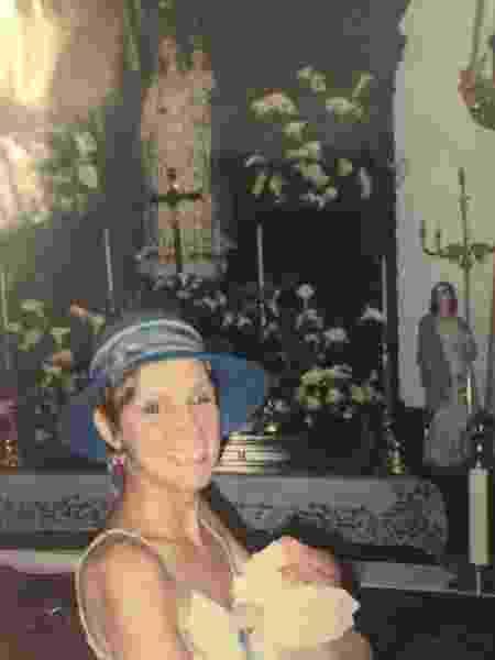 Em 2006, no batizado de Ana Julia - Arquivo Pessoal/Tathiana Cravo - Arquivo Pessoal/Tathiana Cravo