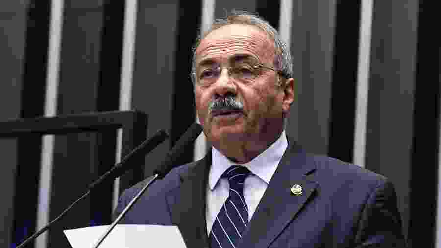 O senador Chico Rodrigues (DEM-RR), então vice-líder do governo, foi flagrado pela PF com dinheiro na cueca - Roque de Sa/Brazilian Senate Press Office/AFP