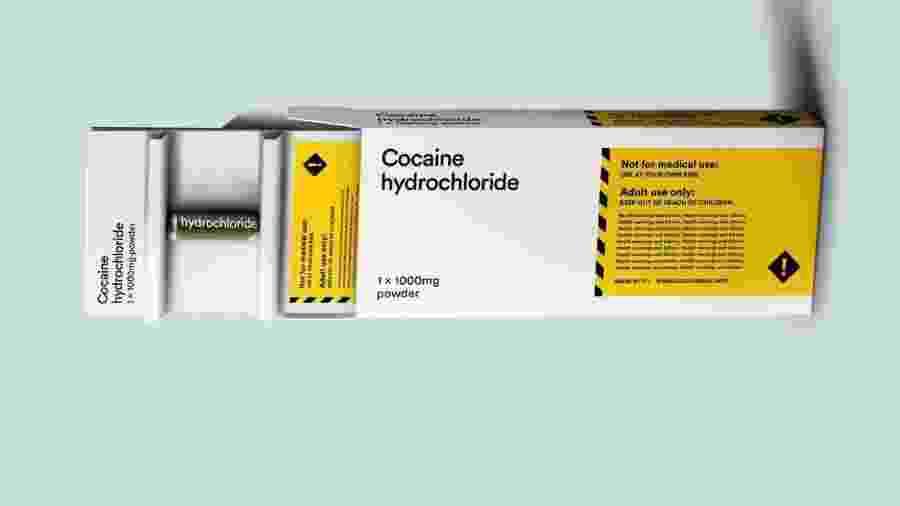 Embalagem de cocaína sugerida para venda em farmácias pela Transform Policy Drug Foundation - Divulgação/Transform Policy Drug Foundation