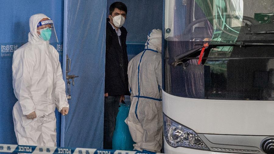 Equipe da OMS está na China desde a última quinta-feira para apurar a origem do coronavírus  - Nicolas ASfouri/AFP