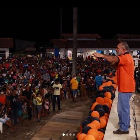 Senador roraimente Telmário Mota (Pros) provoca aglomeração ao realizar evento em Rorainópolis - Reprodução/Instagram/Telmário Mota