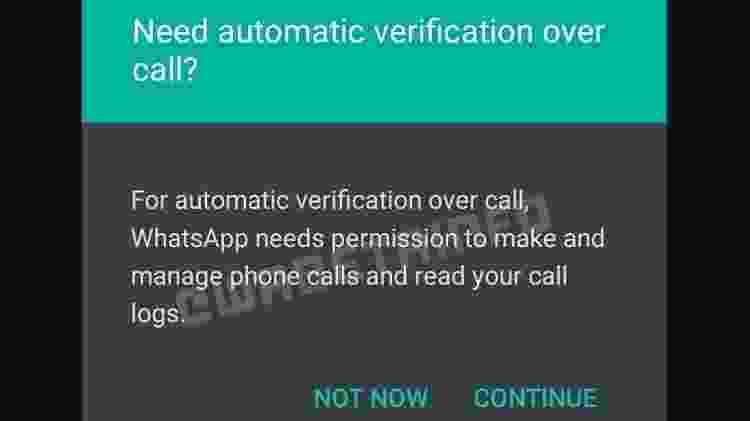 WhatsApp - método de verificação por chamada de voz - Reprodução/WABetaInfo - Reprodução/WABetaInfo